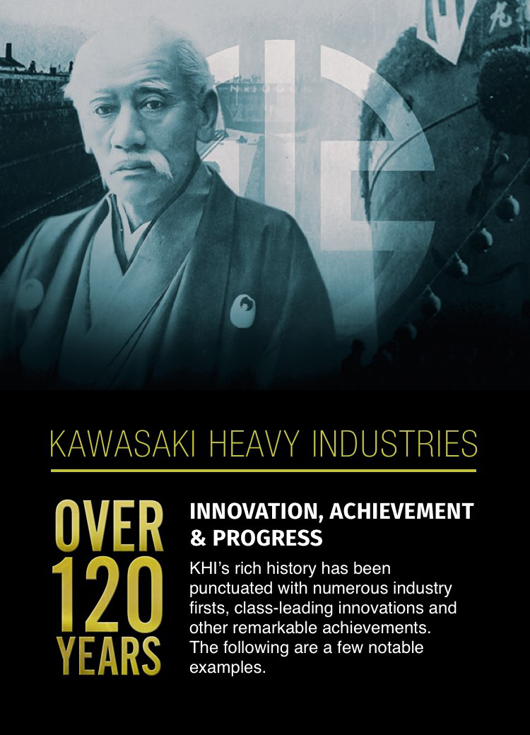 INNOVATION, ACHIEVEMENT AND PROGRESS KHI's rich history has been punctuated with numerous industry firsts, class-leading innovations and other remarkable achievements. The following are a few notable examples.